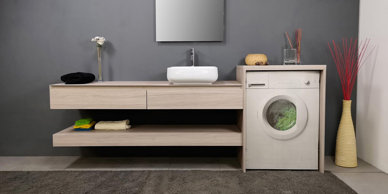 Mobile Bagno Lavabo E Lavatrice mobile coprilavatrice per l'arredo lavanderia