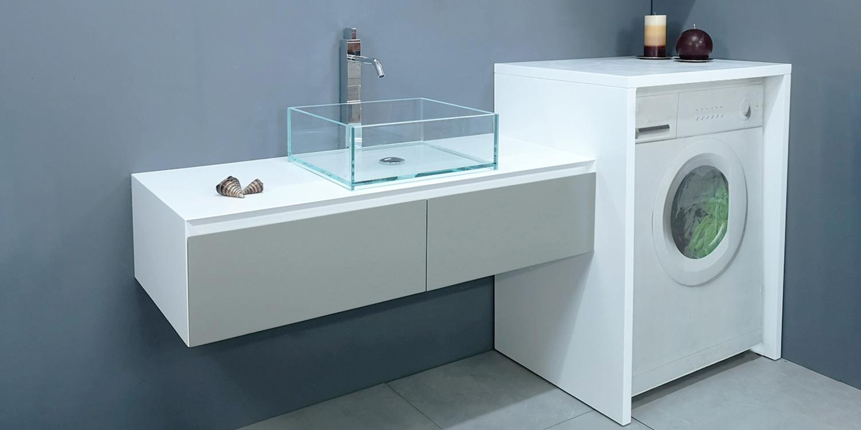 Mobile Lavabo Piu Lavatrice mobile coprilavatrice per l'arredo lavanderia