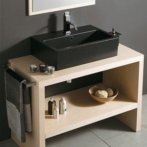 Mobili a terra per bagno legno massello - Lavelli da appoggio per bagno ...