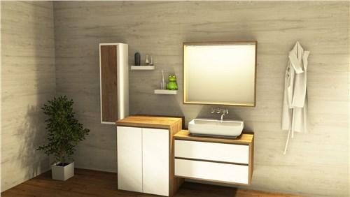 Mobili bagno con colonna personalizzati