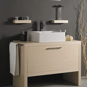 Mobili a terra per bagno, legno massello