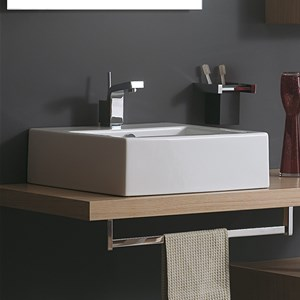 Piani per lavabi e top bagno in legno - Mensola bagno appoggio lavabo ...