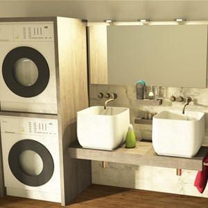 Mobili Da Bagno Per Lavatrice E Asciugatrice.Mobile Coprilavatrice Per L Arredo Lavanderia