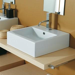 Lavabi appoggio in ceramica tondi rettangolari quadrati - Lavabo 40 cm profondita ...