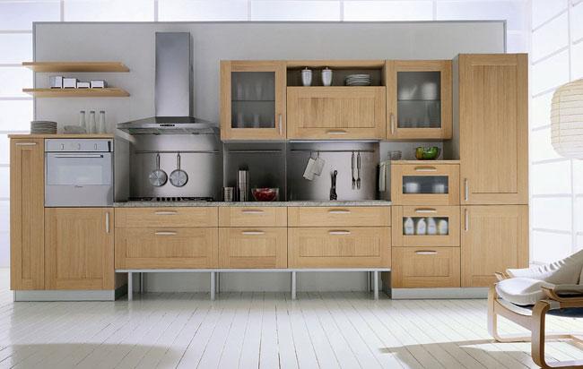 Parete attrezzata in ciliegio moderna 602 un classico - Cucine moderne color ciliegio ...